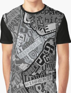 Typography Grayscale Graphic T-Shirt