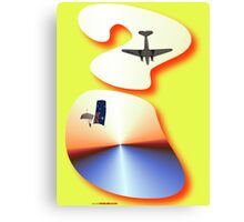 Question Mark - DC-3 & Parachutist Design Canvas Print
