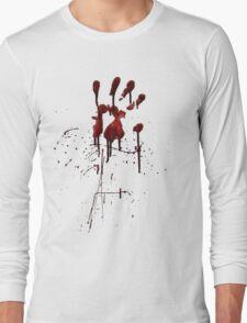 Zombie Attack Bloodprint - Halloween Long Sleeve T-Shirt