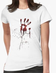 Zombie Attack Bloodprint - Halloween Womens Fitted T-Shirt