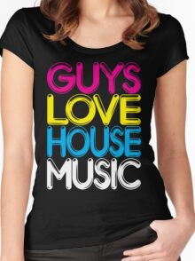 Guys Love House Music Women's Fitted Scoop T-Shirt