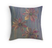 Painterly Petals... Throw Pillow