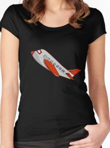 On a plain Women's Fitted Scoop T-Shirt