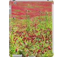 A field of common sainfoin (Onobrychis viciifolia) Photographed in Tuscany, Italy  iPad Case/Skin