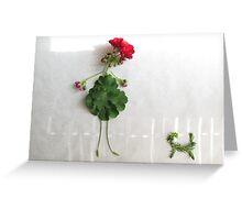 Geranium Girl Greeting Card