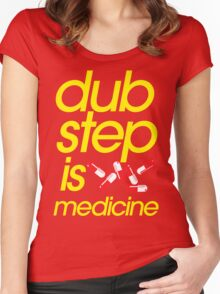 Dubstep Is Medicine (part II) Women's Fitted Scoop T-Shirt
