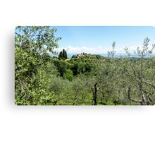 Rolling green hills with trees Photographed in Tuscany, Italy Metal Print