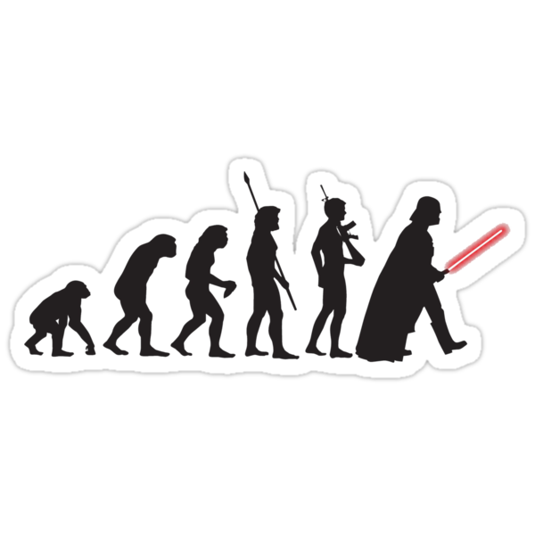 Human evolution Star wars by Shahed Miah
