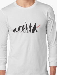 Human evolution Star wars Long Sleeve T-Shirt
