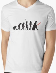 Human evolution Star wars Mens V-Neck T-Shirt