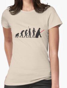 Human evolution Star wars Womens Fitted T-Shirt