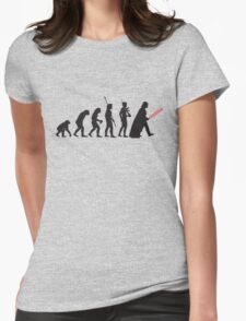 Human evolution Star wars Womens Fitted T-Shirt