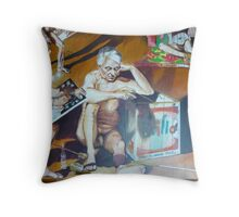 The School of Postmodernism Detail 4 by Vittorio Pelosi Throw Pillow