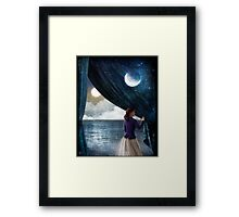 Night with a view Framed Print