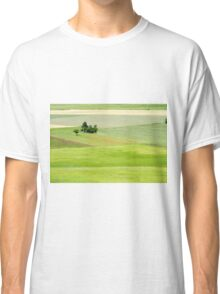 Rolling green hills with trees Photographed in Umbria, Italy Classic T-Shirt