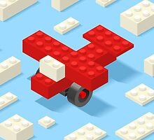Toy Block Plane Games Isometric by aurielaki