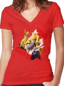 Road Roller-Da!! Women's Fitted V-Neck T-Shirt