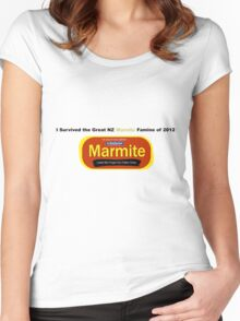 I Survived the Great NZ Marmite Famine of 2012 Women's Fitted Scoop T-Shirt