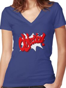 Objection! Women's Fitted V-Neck T-Shirt