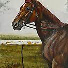 Portrait of Motspur by Wayne Dowsent