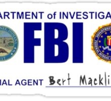 Bert Macklin: FBI Sticker
