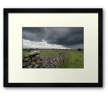 Dry Stone Wall Framed Print