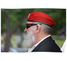 Red Beret on ANZAC Day Poster