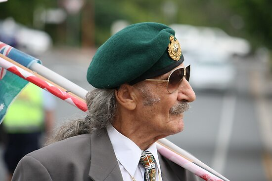 Green Beret on ANZAC Day by aussiebushstick