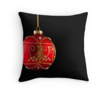 The Red Bauble Throw Pillow