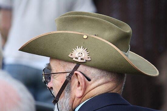 Aussie Digger on ANZAC Day by aussiebushstick