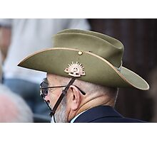 Aussie Digger on ANZAC Day Photographic Print