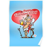 Cupid with a beer Poster