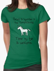 Time To Be A Unicorn Womens Fitted T-Shirt