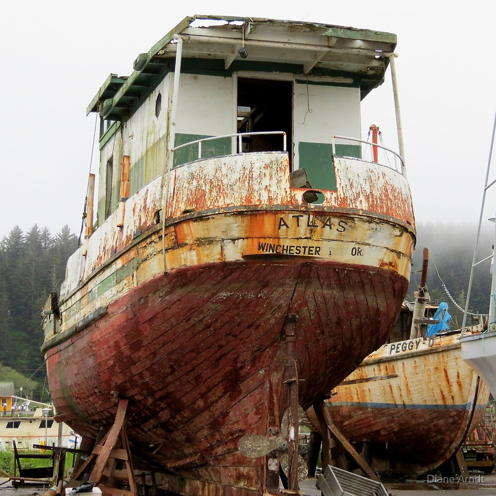Dry Dock....Coo's Bay, Oregon by Diane Arndt