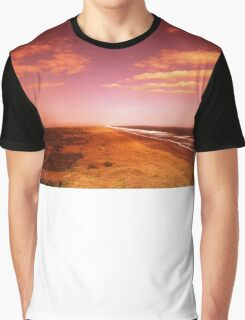sunset over the beach Graphic T-Shirt