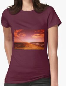 sunset over the beach T-Shirt