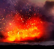 Kilauea Volcano at Kalapana 9 by Alex Preiss