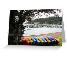 coloured kayaks  Greeting Card