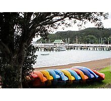 coloured kayaks  Photographic Print