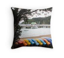 coloured kayaks  Throw Pillow