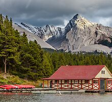 Maligne Lake and Leah Peak by Jim Stiles