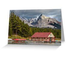 Maligne Lake and Leah Peak Greeting Card