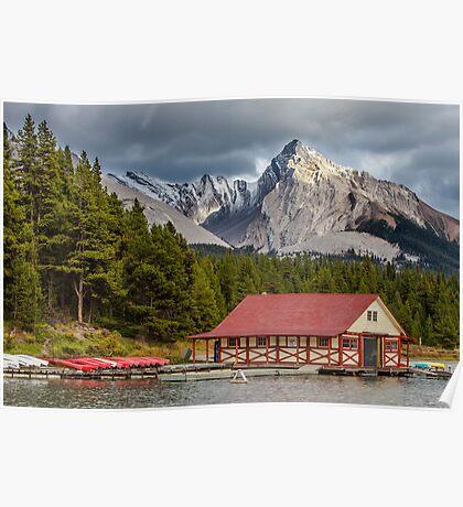 Maligne Lake and Leah Peak Poster