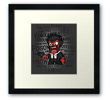 Furious anger Framed Print