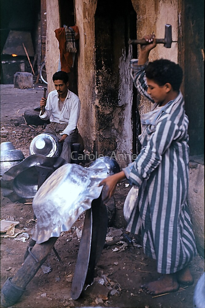 Artisan Father and Son, Cairo by Carole-Anne