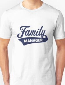 Family Manager (Navy) Unisex T-Shirt