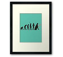 Human evolution Star wars Framed Print