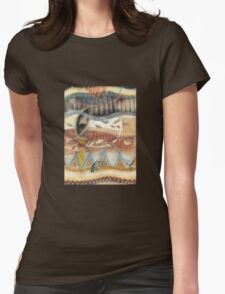 Tropical Fusions (Panel 2 of 4) Womens Fitted T-Shirt