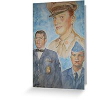 Three Generations Military Family Greeting Card