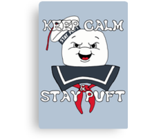 Keep Calm and Stay Puft Canvas Print